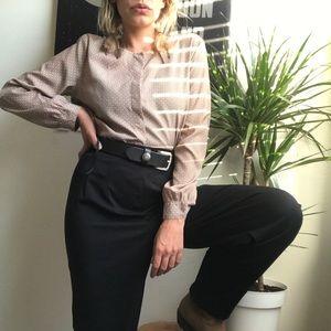 Ann Taylor Petite Buttoned Blouse